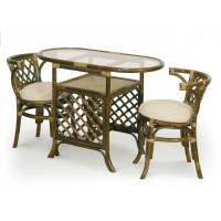 Комплект (стол, стулья) ротанг